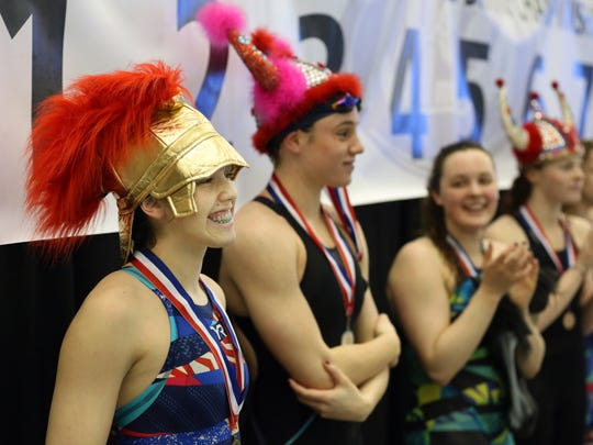 Christian Academy's Gabi Albiero wins in the 50 yard Freestyle at the KHSAA Swim & Diving Championship. Albiero also set a state record. Feb. 27, 2016
