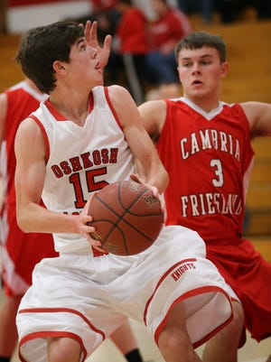 Junior Evan Ganther (15) was Lourdes Academy's leading scorer at more than 15 points per game last season.
