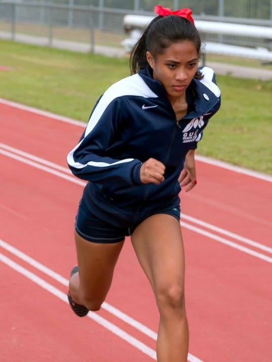 Regine Tugade Guam/John F. Kennedy Islander track athlete