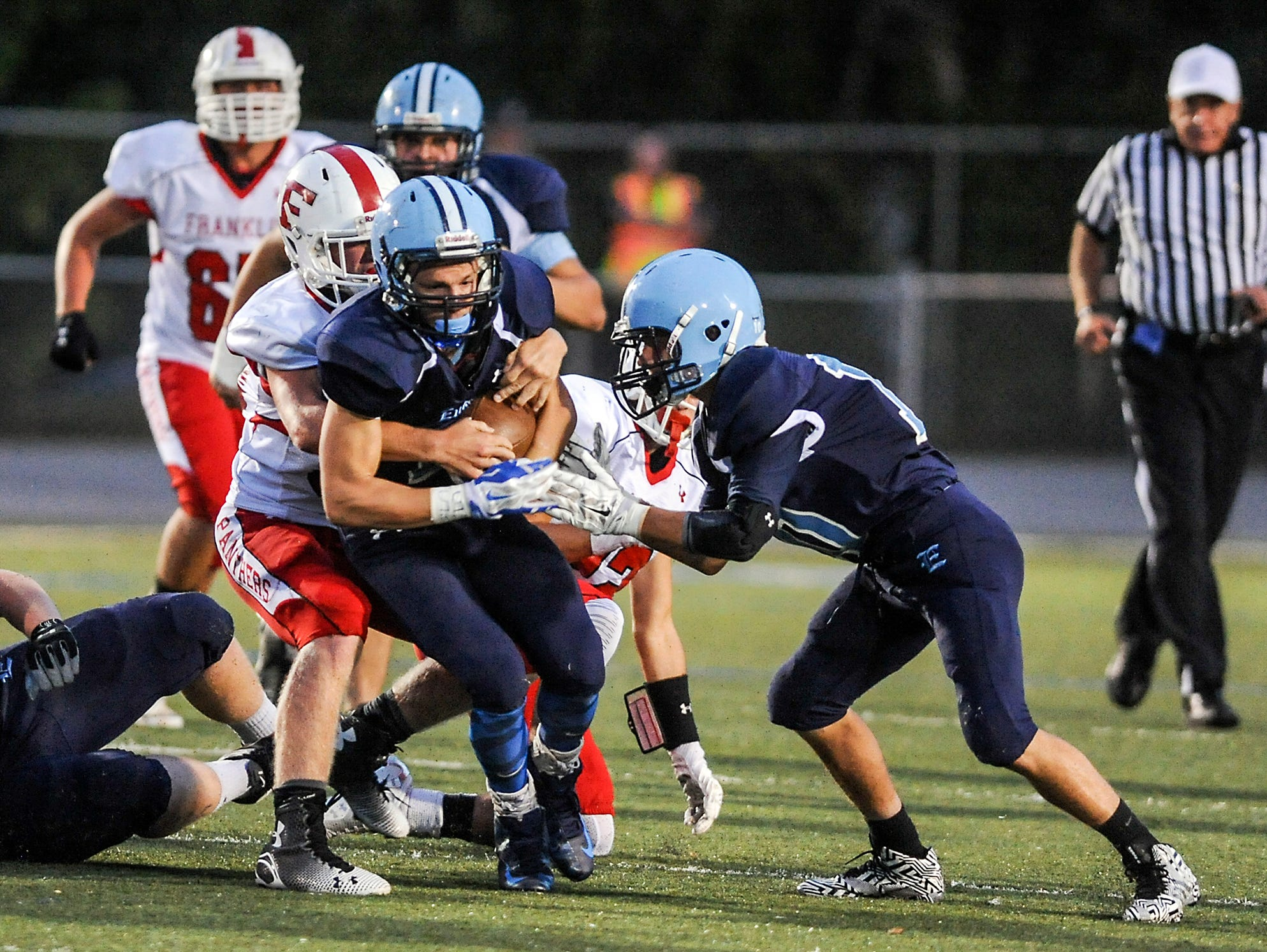 Senior running back/safety Michael Cantrell is one of the returning players for the Enka football team.