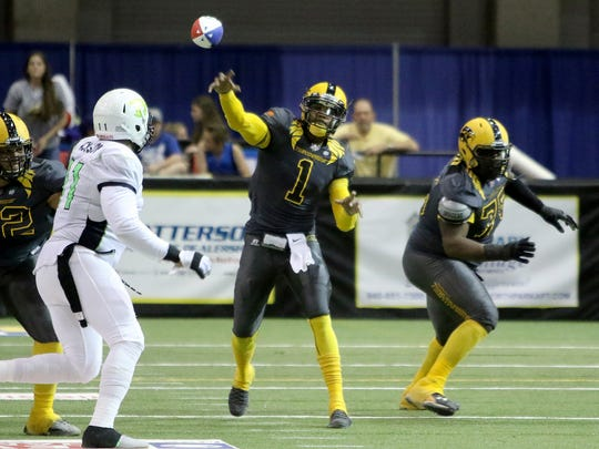 Wichita Falls Nighthawks' Charles McCullum was named Indoor Football League MVP two seasons ago, but won't be taking the field at Kay Yeager Coliseum this season after the franchise ceased operations Monday.
