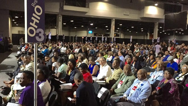 About 1,400 delegates vote to approve dozens of resolutions Tuesday at the NAACP national convention.