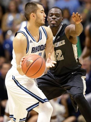 Rhode Island guard Four McGlynn (4) scored a career-high 33 points in a victory against Brown.