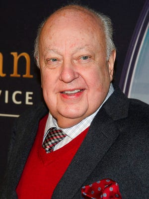 """FILE - In this Feb. 9, 2015 file photo, Roger Ailes attends a special screening of """"Kingsman: The Secret Service"""" in New York. A miniseries about deposed Fox News Channel executive Roger Ailes is in the works at Showtime. The project in development is based on New York magazine writer Gabriel Sherman's reporting on Ailes."""