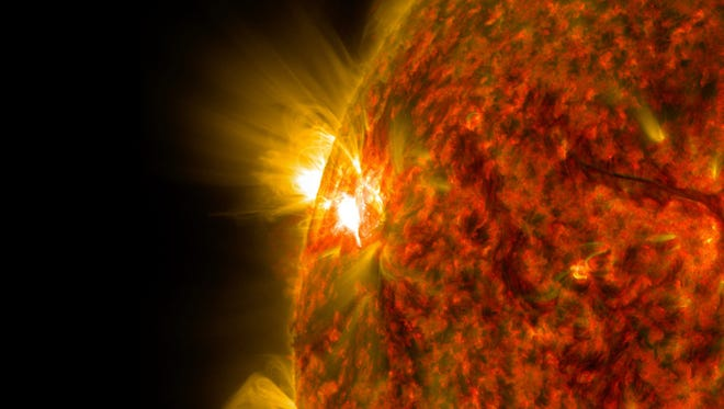 A handout photo provided by the National Aeronautics and Space Administration (NASA) on Nov. 6, 2014, shows an image captured by NASA's Solar Dynamics Observatory.