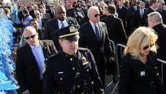 Vice President Biden and his wife, Jill, right, enter