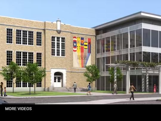 Screen shot of artist rendering of Abilene Heritage
