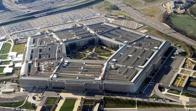 This file photo taken Dec.  26, 2011 shows the Pentagon building in Washington, DC.