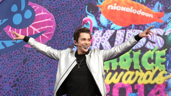 Austin Mahone attends Nickelodeon's 27th Annual Kids' Choice Awards on March 29 in Los Angeles.