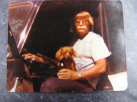 Earl Chambers with a dog