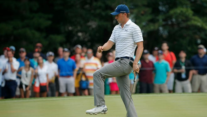 """Jordan Spieth recalls getting a Rules of Golf book at a junior tournament with instructions to keep it in his bag for quick reference. """"I never opened it,"""" he said."""