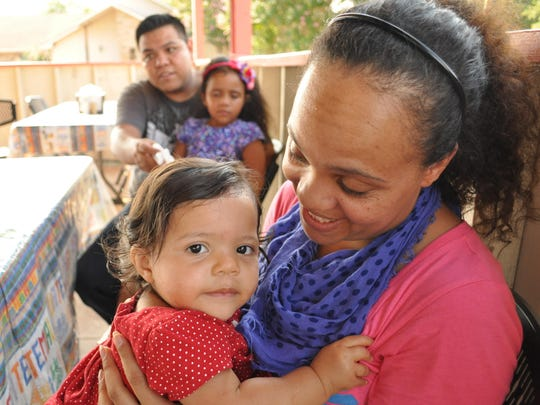 Carolina Francisco with her 1-year-old daughter Jasmine.