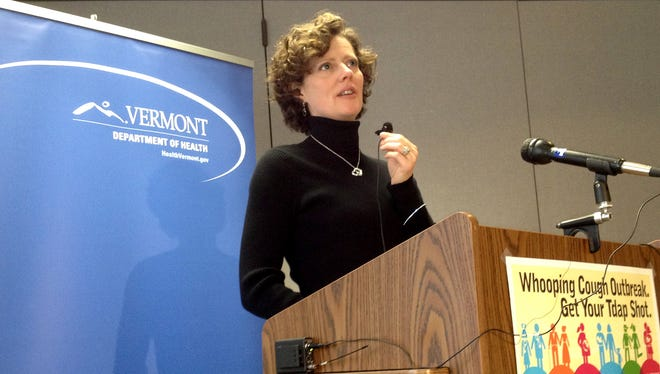 Patsy Kelso, state epidemiologist, talks about the whooping cough outbreak in Vermont, in a December, 2012, file photo.