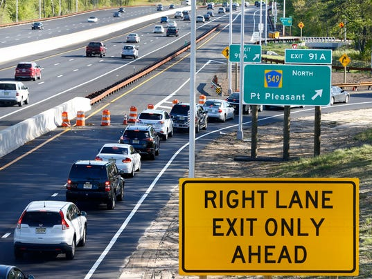Finally new exit 91 in brick is opening for Directions to garden state parkway south