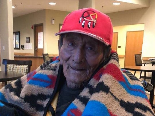 Navajo Code Talker Samuel Tom Holiday is in hospice care at the Southern Utah Veterans Home in Ivins.