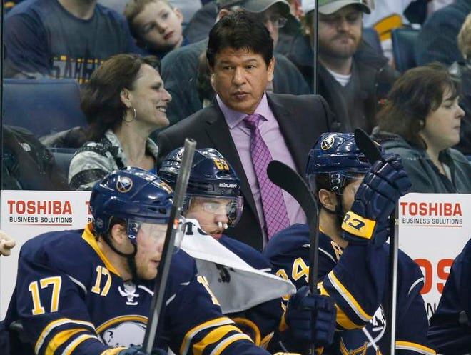 Buffalo Sabres coach Ted Nolan is the head coach for the Latvian men's Olympic hockey team in Sochi, Russia.