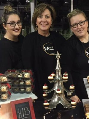 Pastry chef Nancy Mazaris (center) and her daughters Emily (left) and Stephanie Mazaris (right) opened a brick and mortar location for their company M Street Baking Co. in downtown Howell.