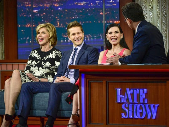"""The Late Show With Stephen Colbert"" hosted the cast"