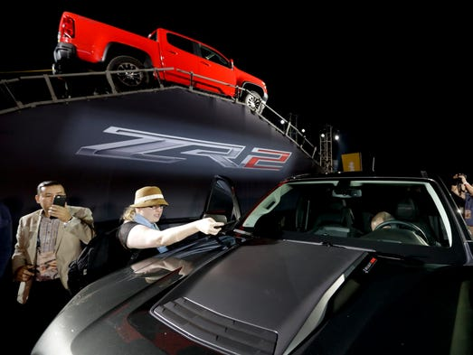 A 2017 Chevrolet Coronado ZR2 during the Los Angeles