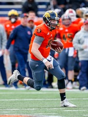 C.J. Beathard played most of the second quarter for the North team during Saturday's Senior Bowl.