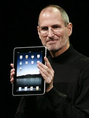 This file photo taken on January 27, 2010 shows Apple