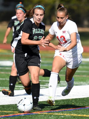 Senior Cass McCabe (13) served as one of Northern Highlands' four captains this season.