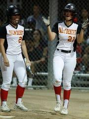 Palm Desert High School's from left, Jasmine Perezchica