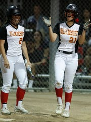 Palm Desert High School's from left, Jasmine Perezchica