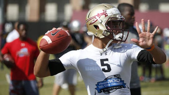 Joey Gatewood, an FSU 2018 QB target commit, takes