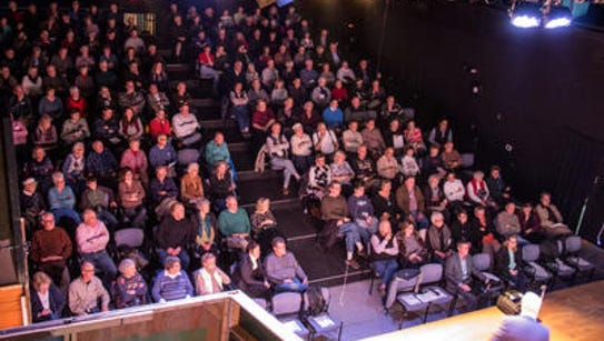"The audience for ""Weird York"" filled Dreamwrights'"