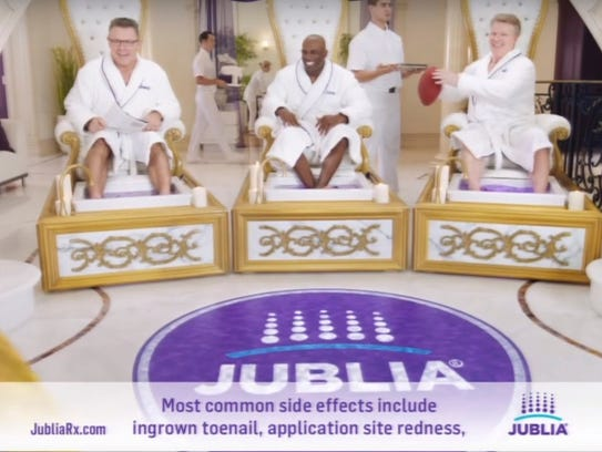 Jublia advertised in Super Bowl 50.