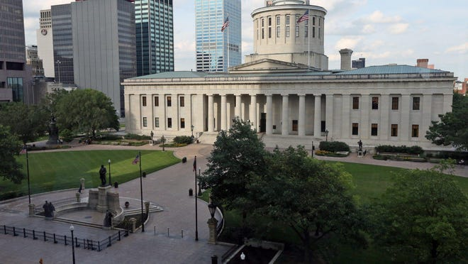 The Ohio Statehouse as photographed from the third floor of the Riffe Tower near High Street in Columbus, Ohio on June 22, 2015.