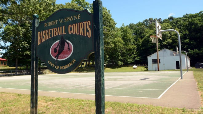 The Robert W. Spayne basketball courts off Mahan Drive in Norwich will soon be busy hosting summer basketball games.