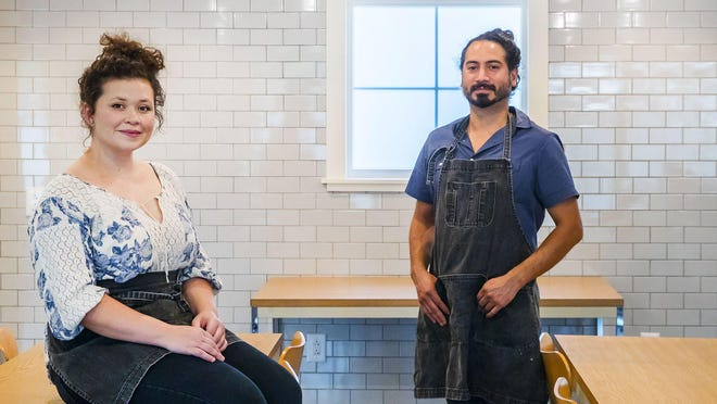 Loteria Hospitality owners Bethany DiBaggio and Rafael Rodriguez started their catering business, La Pera, in 2017. The pandemic wiped out their events business, but they've added a taco delivery service, El Camaron, and a grazing board delivery company, La Dama.