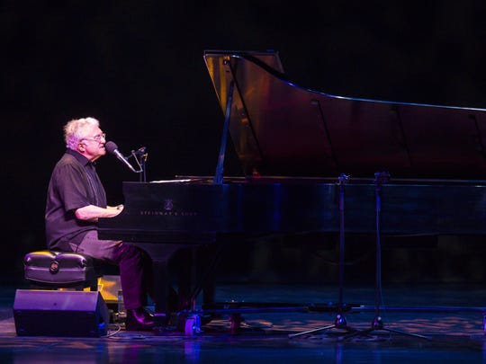 Randy Newman performs at the Flynn Theater on the opening night of the Burlington Discover Jazz Festival on Friday.