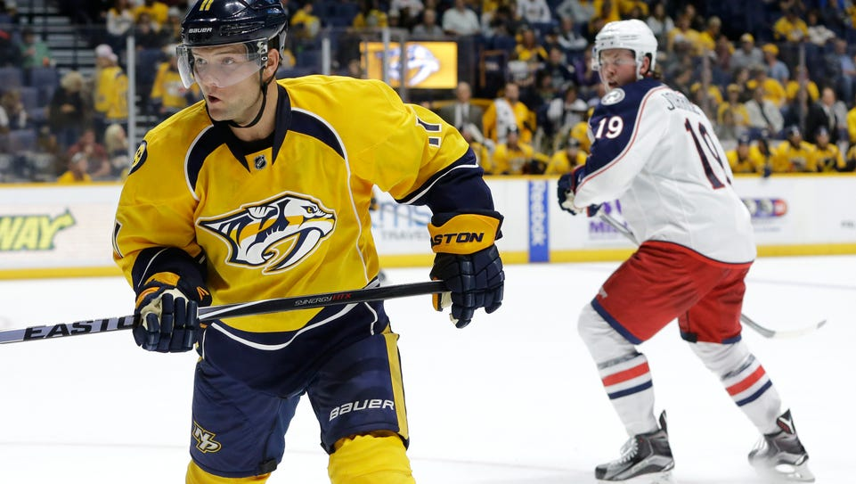 Forward Cody Hodgson signed with the Predators in July