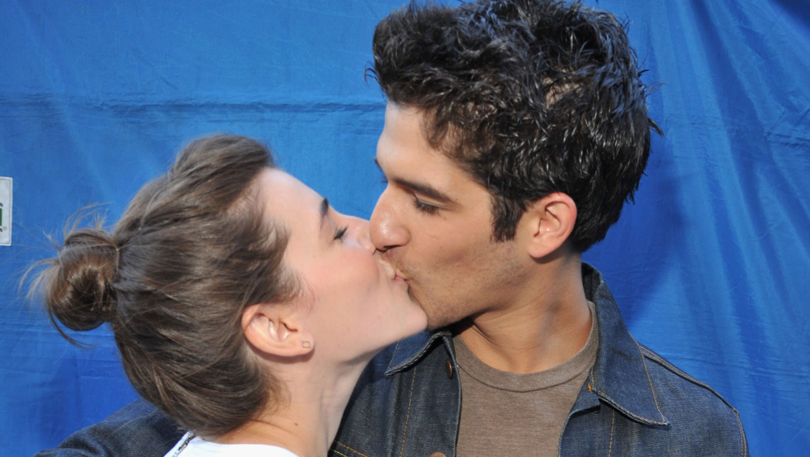 Seana Gorlick and actor Tyler Posey share a moment.