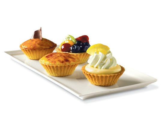 La Madeline offers many mini dessert options, such as the lemon, fruit and creme brulee tarts.