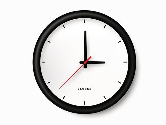 Simple black clock