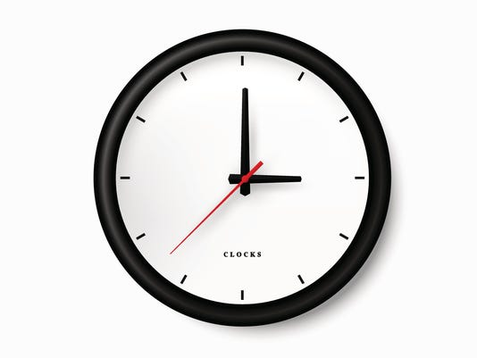 Simple black clock