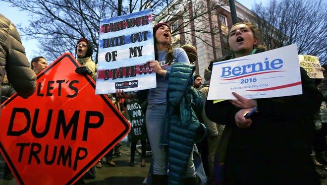 Demonstrators in Burlington, Vt., on Jan. 7, 2016.