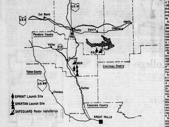 A 1970 outline of the missile field development was