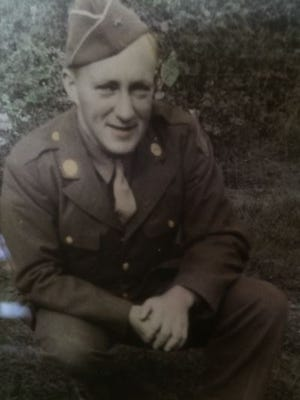 """Pfc. Wayne Clark crossed into Germany with the """"Rolling W"""" 89th Division on March 11, 1945."""