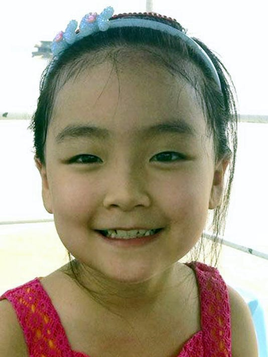 Bella Zhang: turned 8 on July 8. Her parents are Shan Zhang and Dan Lin or Abbottstown. Her grandparents are Tongxiu and Jinyun Zhang, and Meixian Zhu and Dicai Lin, all of China.