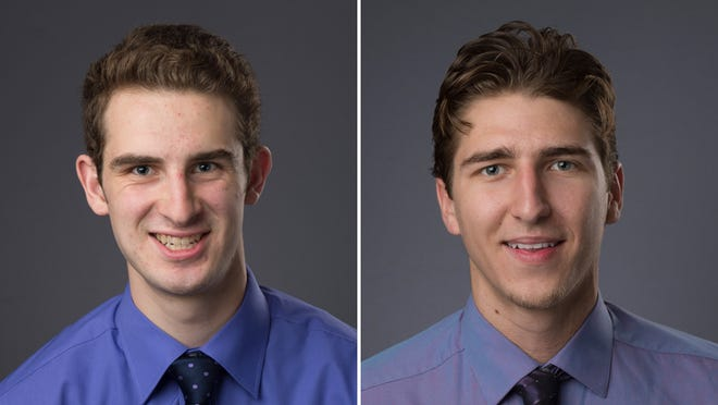 Stephen Toyra (left) and Neal Beshears (right) were awarded with scholarships for the 2014-15 Purdue men's basketball season.