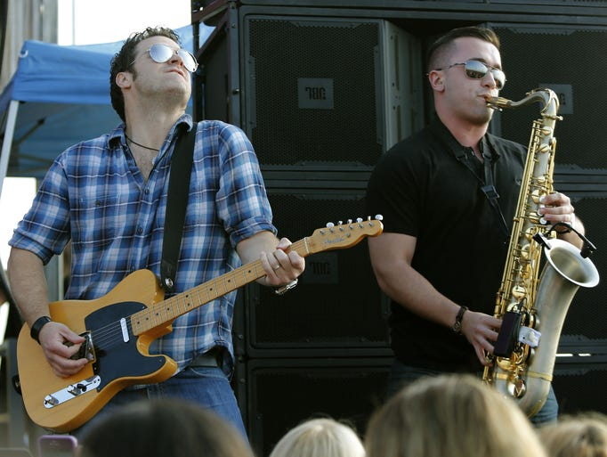 The E Street Shuffle performs during WCBS annual Summer