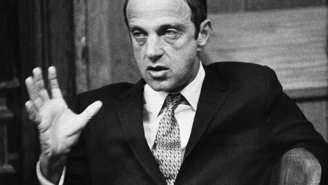 Roy Cohn, one-time counsel for the late Sen. Joseph McCarthy's Communist-hunting investigation, appears in Austin, Texas, in 1971.