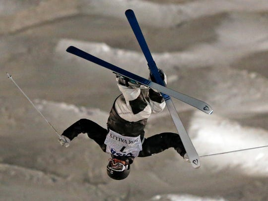U.S. skier Morgan Schild, a Pittsford native, competes