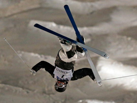 U.S. skier Morgan Schild, a Pittsford native, competes in the women's World Cup freestyle moguls at Deer Valley resort in Park City, Utah, in January.