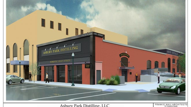 Rendering of Asbury Park Distilling, which received planning board approval in April, and will be located on Lake Avenue and Emory Street.